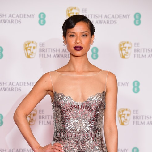 Gugu Mbatha-Raw arrives for the EE BAFTA Film Awards at the Royal Albert Hall in London. Picture date: Sunday April 11, 2021. (Photo by Ian West/PA Images via Getty Images)