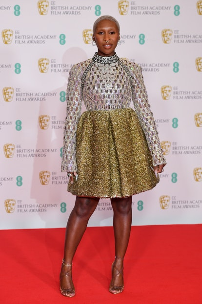 Cynthia Erivo arrives for the EE BAFTA Film Awards at the Royal Albert Hall in London. Picture date: Sunday April 11, 2021. (Photo by Ian West/PA Images via Getty Images)