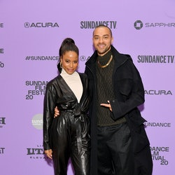 """PARK CITY, UTAH - JANUARY 24: Taylour Paige and Jesse Williams attend the """"Zola"""" premiere during the 2020 Sundance Film Festival at Eccles Center Theatre on January 24, 2020 in Park City, Utah. (Photo by Dia Dipasupil/Getty Images)"""