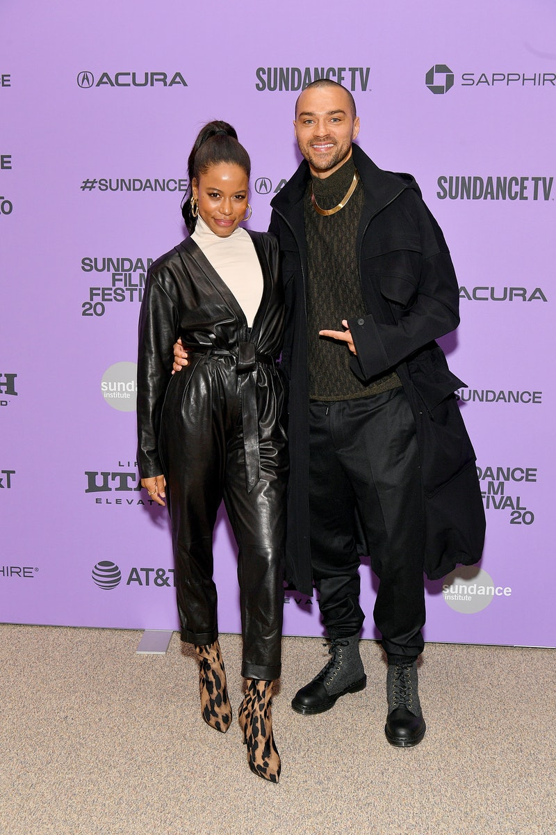 "PARK CITY, UTAH - JANUARY 24: Taylour Paige and Jesse Williams attend the ""Zola"" premiere during the 2020 Sundance Film Festival at Eccles Center Theatre on January 24, 2020 in Park City, Utah. (Photo by Dia Dipasupil/Getty Images)"