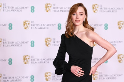 Phoebe Dynevor at the 2021 BAFTAs.