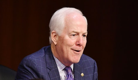 Senator John Cornyn (R-TX) speaks during the Senate Judiciary Committee on the fourth day of hearings on Supreme Court nominee Amy Coney Barrett, on October 15, 2020, on Capitol Hill in Washington, DC. (Photo by MANDEL NGAN / POOL / AFP) (Photo by MANDEL NGAN/POOL/AFP via Getty Images)