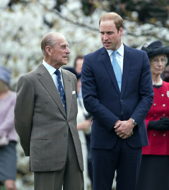 The Duke of Edinburgh and the Duke of Cambridge during the unveiling of the Windsor Greys statue that marks 60 years of The Queens Coronation at Windsor, Berkshire. re   (Photo by Steve Parsons/PA Images via Getty Images)