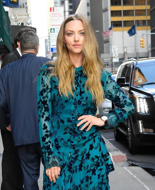 """NEW YORK, NY - AUGUST 06:  Amanda Seyfried is seen outside of """"The Late Show With Stephen Colbert"""" o..."""