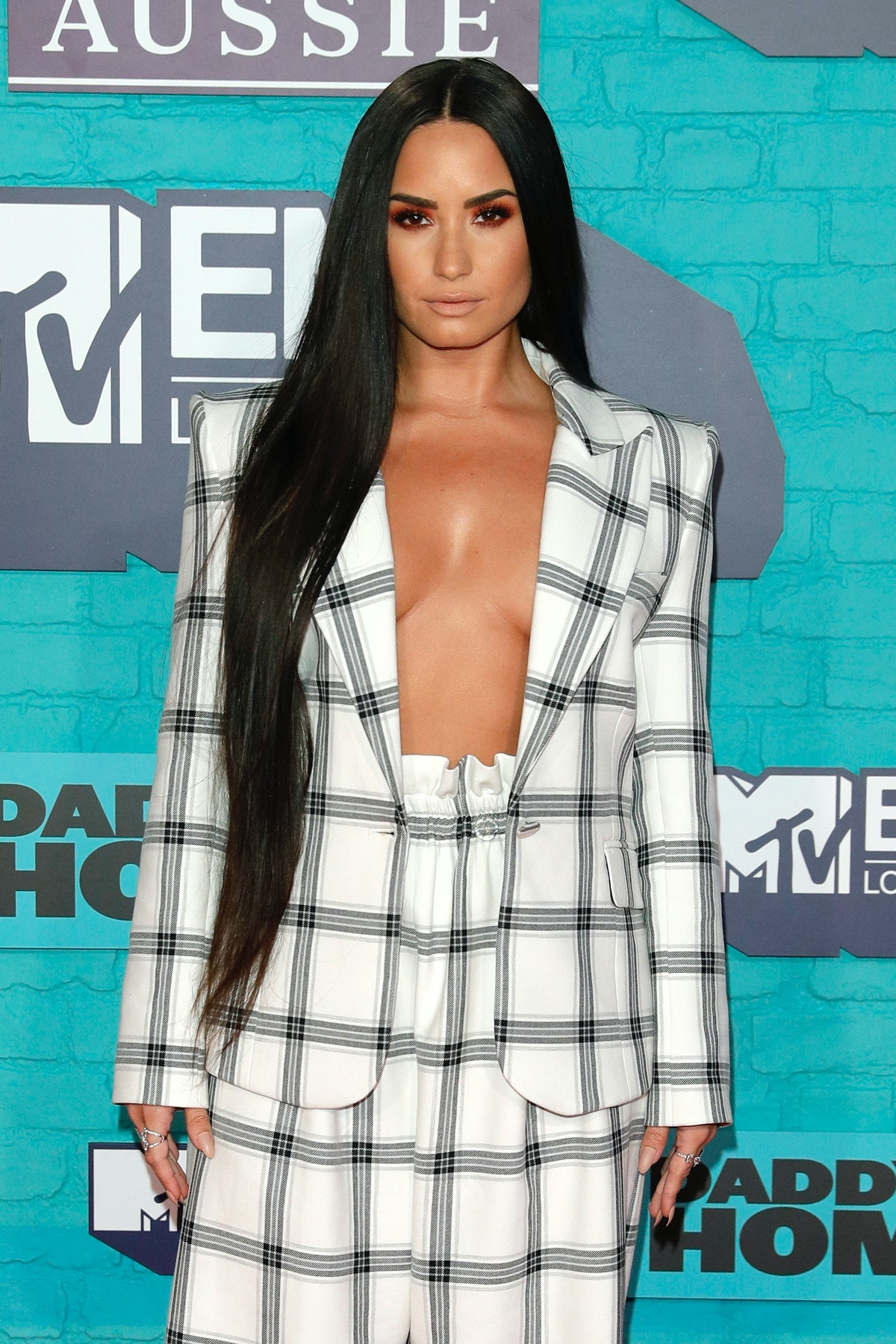 LONDON, ENGLAND - NOVEMBER 12:  Demi Lovato attends the MTV EMAs 2017 held at The SSE Arena, Wembley...