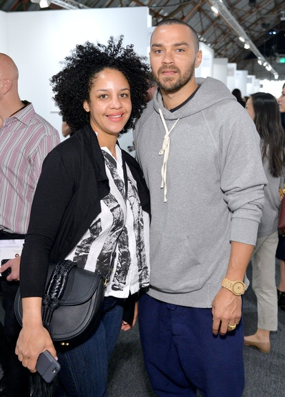 SANTA MONICA, CA - JANUARY 28: Aryn Drake-Lee (L) and actor Jesse Williams attend the Art Los Angeles Contemporary 2016 Opening Night at Barker Hangar on January 28, 2016 in Santa Monica, California.  (Photo by Stefanie Keenan/Getty Images for Art Los Angeles Contemporary)