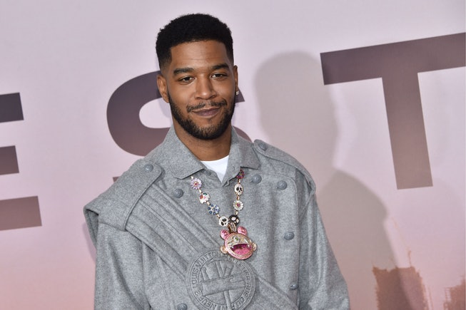 """US rapper Kid Cudi arrives for the Los Angeles season three premiere of the HBO series """"Westworld"""" at the TCL Chinese theatre in Hollywood on March 5, 2020. (Photo by Chris Delmas / AFP) (Photo by CHRIS DELMAS/AFP via Getty Images)"""