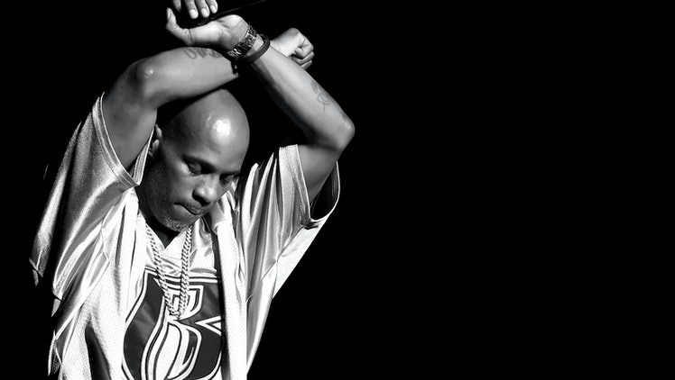 INGLEWOOD, CA - OCTOBER 04:  (EDITORS NOTE: This image has been converted to black and white.)  DMX performs onstage during the Bad Boy Family Reunion Tour at The Forum on October 4, 2016 in Inglewood, California.  (Photo by Kevin Winter/Getty Images for Live Nation)