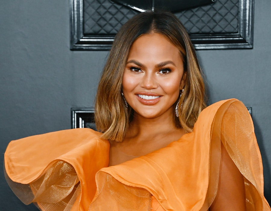 LOS ANGELES, CALIFORNIA - JANUARY 26: Chrissy Teigen attends the 62nd Annual GRAMMY Awards at STAPLES Center on January 26, 2020 in Los Angeles, California.