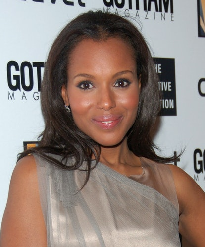 Kerry Washington shows off her widow's peak at the Creative Coalition Gala Hosted by Gotham Magazine - December 18, 2006 in New York City, New York, United States. (Photo by Michael Loccisano/FilmMagic)
