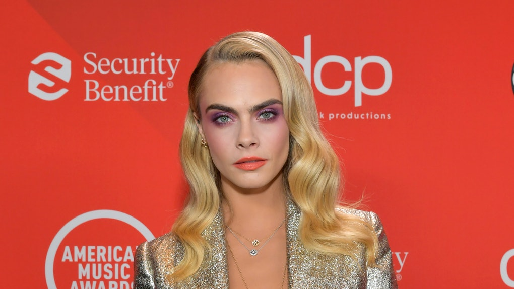 LOS ANGELES, CALIFORNIA - NOVEMBER 22: In this image released on November 22, Cara Delevingne attends the 2020 American Music Awards at Microsoft Theater on November 22, 2020 in Los Angeles, California. (Photo by Emma McIntyre /AMA2020/Getty Images for dcp)
