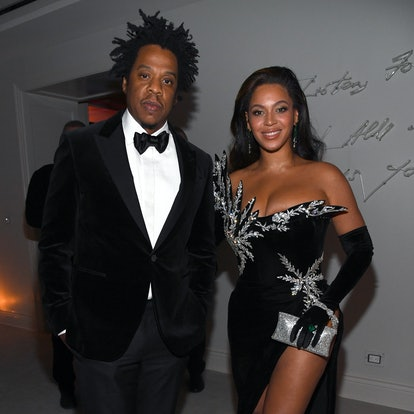 LOS ANGELES, CALIFORNIA - DECEMBER 14: (L-R) Jay-Z and Beyoncé Knowles-Carter attend Sean Combs 50th...
