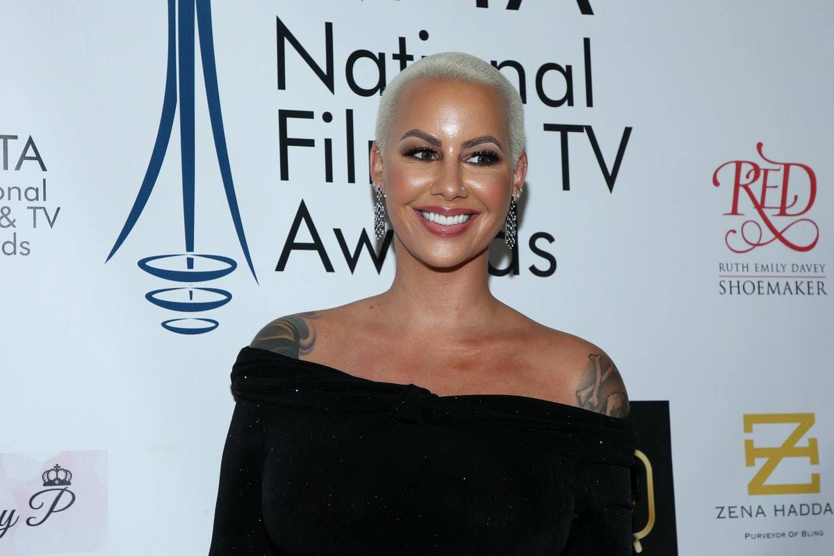 LOS ANGELES, CALIFORNIA - DECEMBER 05: Amber Rose attends the National Film and Television Awards Ce...