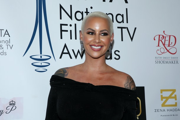 LOS ANGELES, CALIFORNIA - DECEMBER 05: Amber Rose attends the National Film and Television Awards Ceremony at Globe Theatre on December 05, 2018 in Los Angeles, California. (Photo by Phillip Faraone/Getty Images)