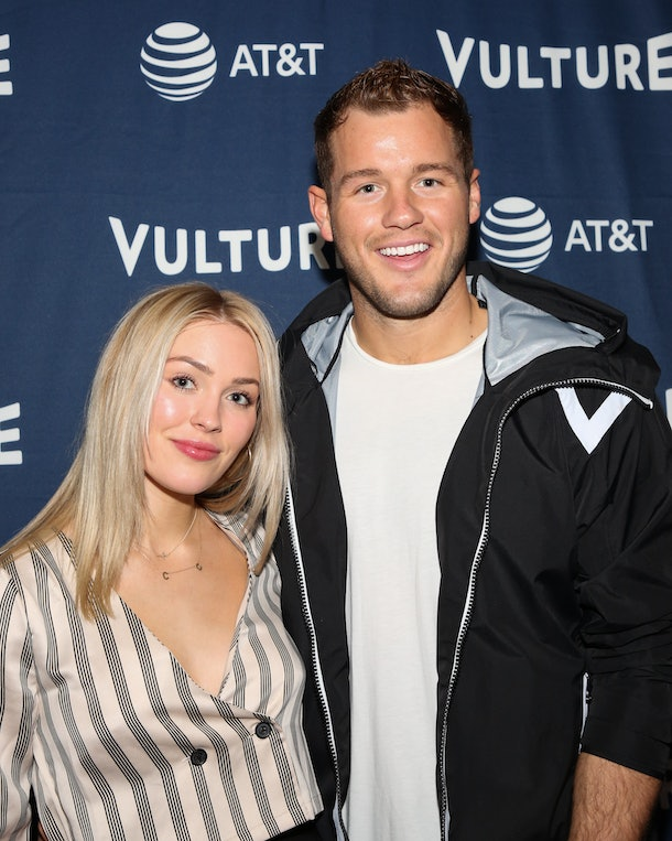 HOLLYWOOD, CALIFORNIA - NOVEMBER 09: Cassie Randolph (L) and Colton Underwood (R) attend the Vulture Festival Los Angeles 2019 - Day 1 at Hollywood Roosevelt Hotel on November 09, 2019 in Hollywood, California. (Photo by Paul Archuleta/Getty Images)
