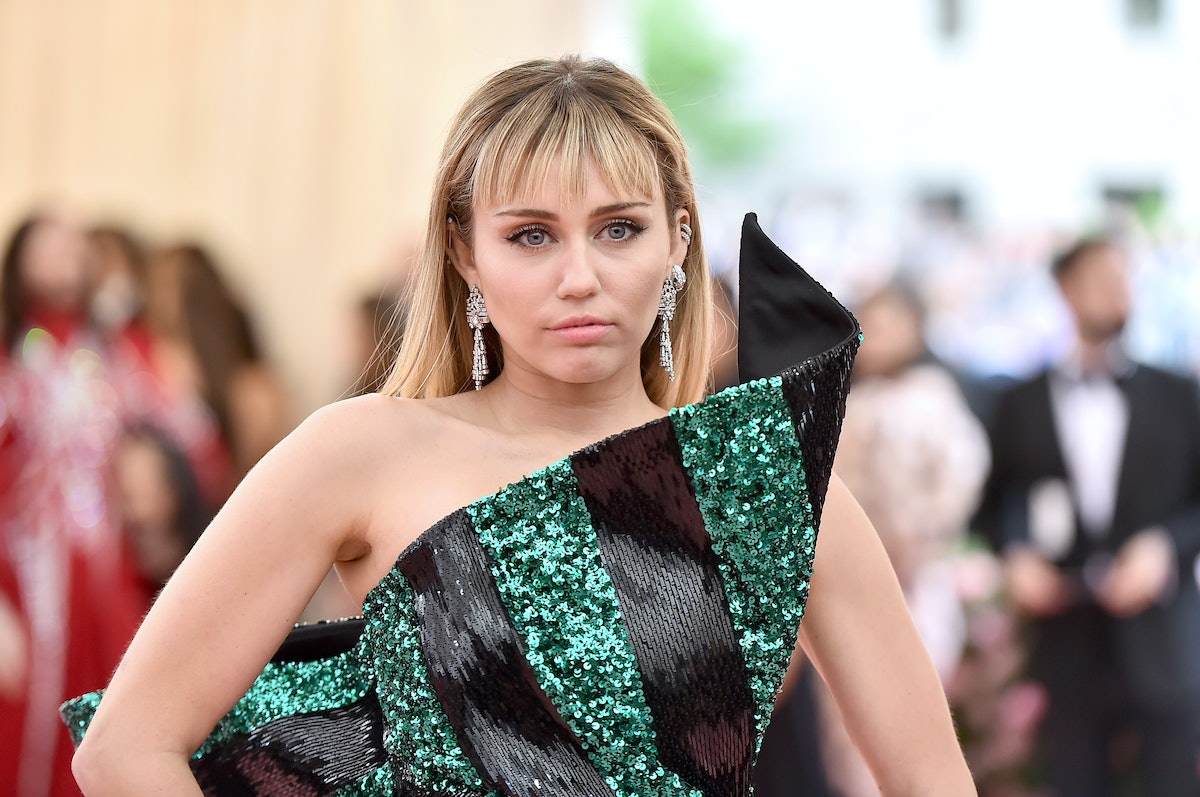 NEW YORK, NEW YORK - MAY 06: Miley Cyrus attends The 2019 Met Gala Celebrating Camp: Notes on Fashio...