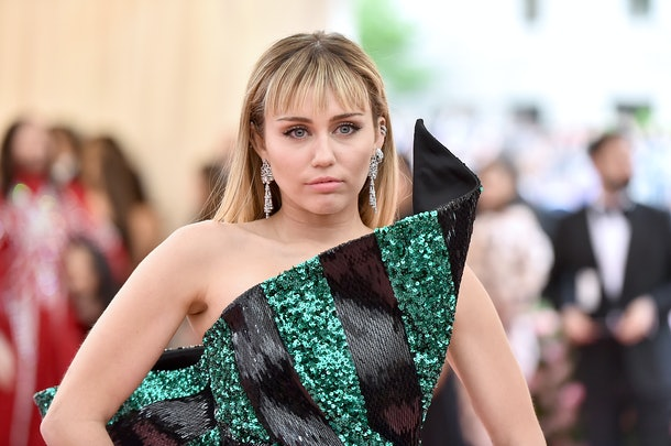 NEW YORK, NEW YORK - MAY 06: Miley Cyrus attends The 2019 Met Gala Celebrating Camp: Notes on Fashion at Metropolitan Museum of Art on May 06, 2019 in New York City. (Photo by Theo Wargo/WireImage)