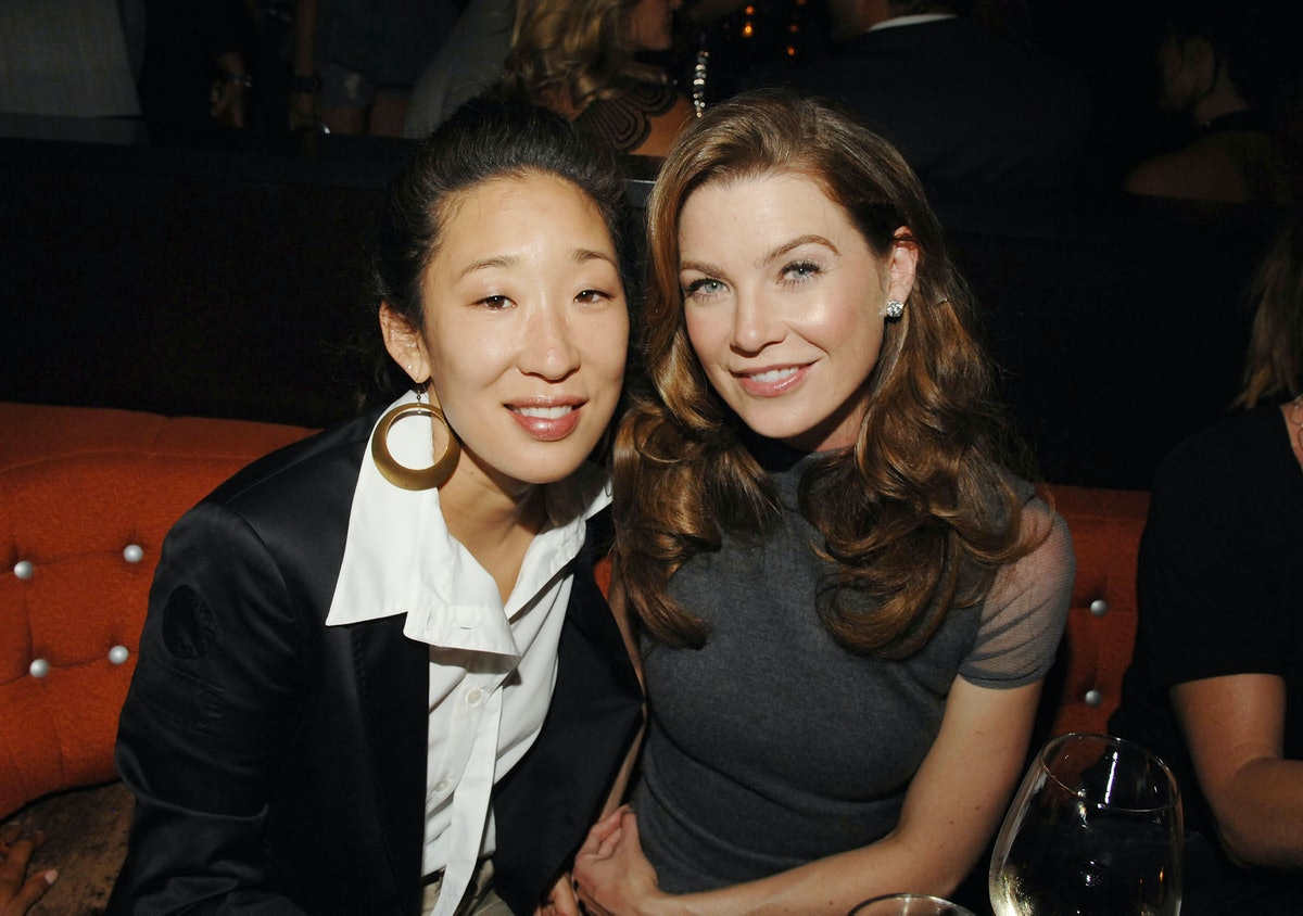 LOS ANGELES, CA - SEPTEMBER 11:    Actress Sandra Oh and actress Ellen Pompeo attend the Los Angeles Confidential Pre-Emmy Party hosted by Ellen Pompeo on September 11, 2007 in Los Angeles, CAlifornia.  (Photo by Amy Graves/WireImage)