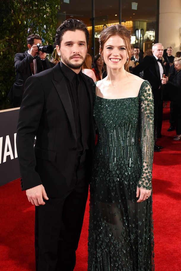 BEVERLY HILLS, CALIFORNIA - JANUARY 05: Kit Harington and Rose Leslie attend the 77th Annual Golden Globe Awards sponsored by Icelandic Glacial on January 5, 2020 at the Beverly Hilton in Los Angeles, CA. (Photo by Presley Ann/Getty Images for Icelandic Glacial )