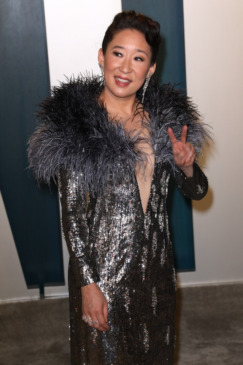 BEVERLY HILLS, CALIFORNIA - FEBRUARY 09: Sandra Oh attends the 2020 Vanity Fair Oscar Party at Wallis Annenberg Center for the Performing Arts on February 09, 2020 in Beverly Hills, California. (Photo by Toni Anne Barson/WireImage)
