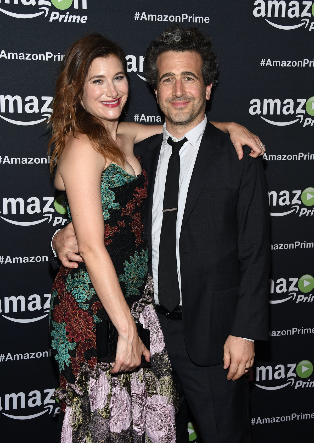 LOS ANGELES, CA - SEPTEMBER 20:  Actress Kathryn Hahn (L) and Ethan Sandler arrives at Amazon Video'...