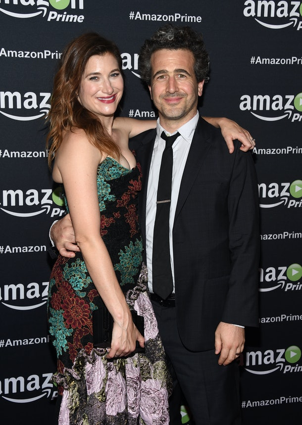 LOS ANGELES, CA - SEPTEMBER 20:  Actress Kathryn Hahn (L) and Ethan Sandler arrives at Amazon Video's 67th Primetime Emmy Celebration at The Standard Hotel on September 20, 2015 in Los Angeles, California.  (Photo by Amanda Edwards/WireImage)