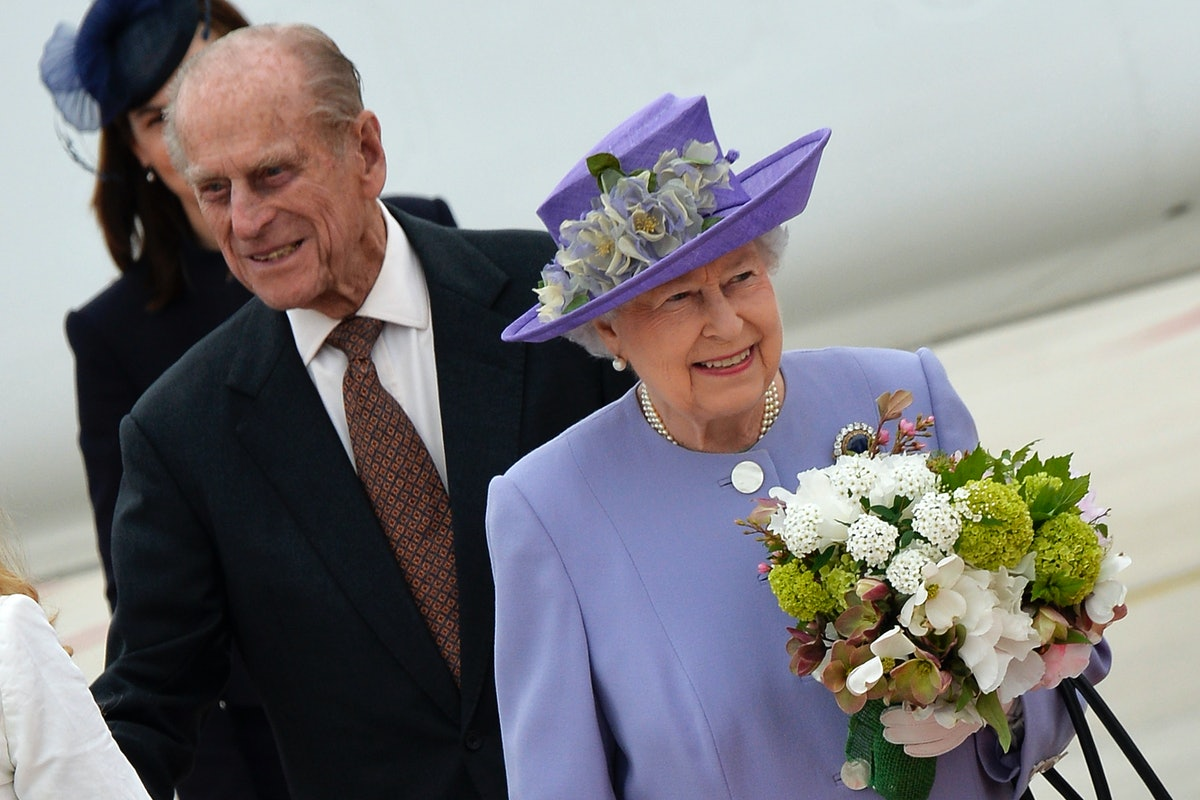 Britain's Queen Elizabeth II and Prince Philip arrive at Rome's airport of Ciampino. Rome (Italy) Ap...