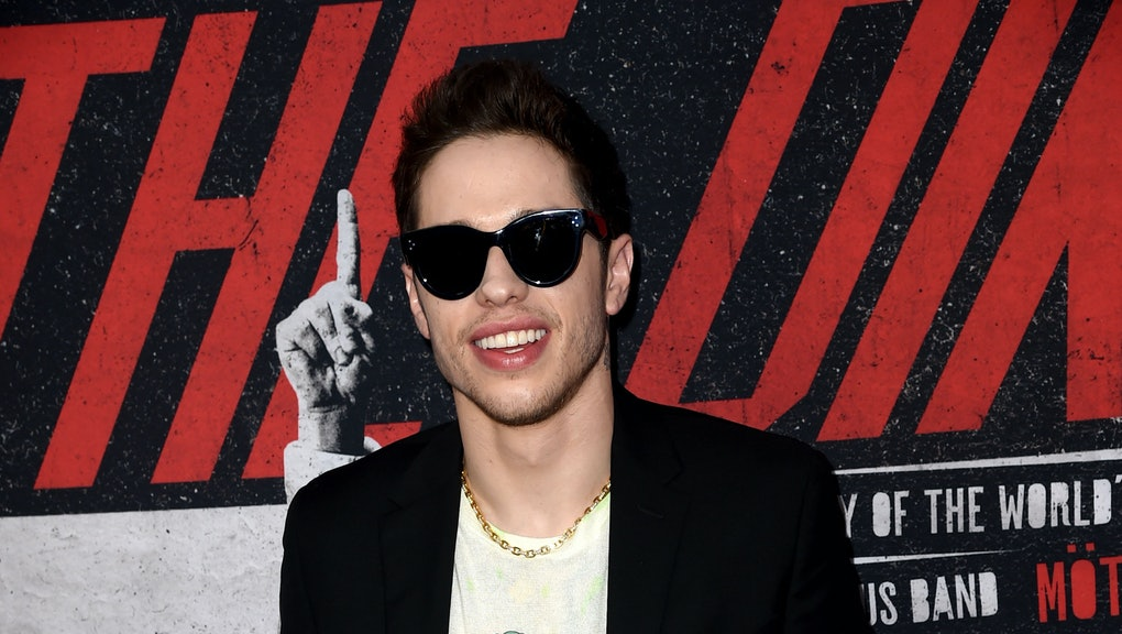 "HOLLYWOOD, CALIFORNIA - MARCH 18: Pete Davidson arrives at the premiere of Netflix's ""The Dirt"" at ArcLight Hollywood on March 18, 2019 in Hollywood, California. (Photo by Kevin Winter/Getty Images)"