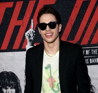 """HOLLYWOOD, CALIFORNIA - MARCH 18: Pete Davidson arrives at the premiere of Netflix's """"The Dirt"""" at ArcLight Hollywood on March 18, 2019 in Hollywood, California. (Photo by Kevin Winter/Getty Images)"""