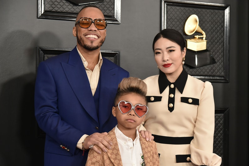 LOS ANGELES, CA - JANUARY 26: Anderson .Paak, Soul Rasheed and Jae Lin attend the 62nd Annual Grammy Awards at Staples Center on January 26, 2020 in Los Angeles, CA. (Photo by David Crotty/Patrick McMullan via Getty Images)