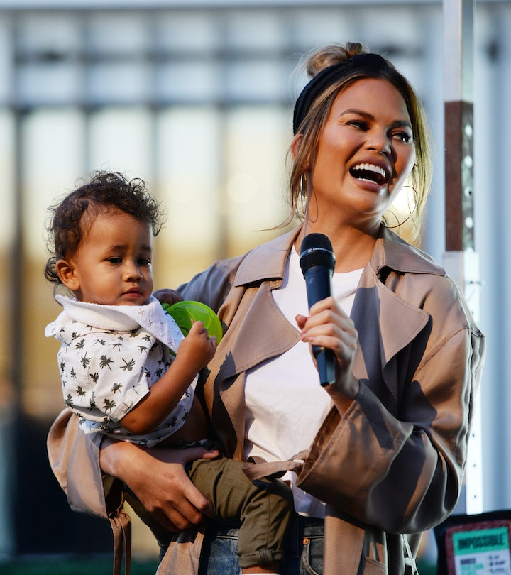 Chrissy Teigen posts more photos of her daughter than her son.
