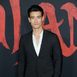 """HOLLYWOOD, CA - MARCH 09:  Alex Landi  arrives for the Premiere Of Disney's """"Mulan""""  held at Dolby Theatre on March 9, 2020 in Hollywood, California.  (Photo by Albert L. Ortega/Getty Images)"""