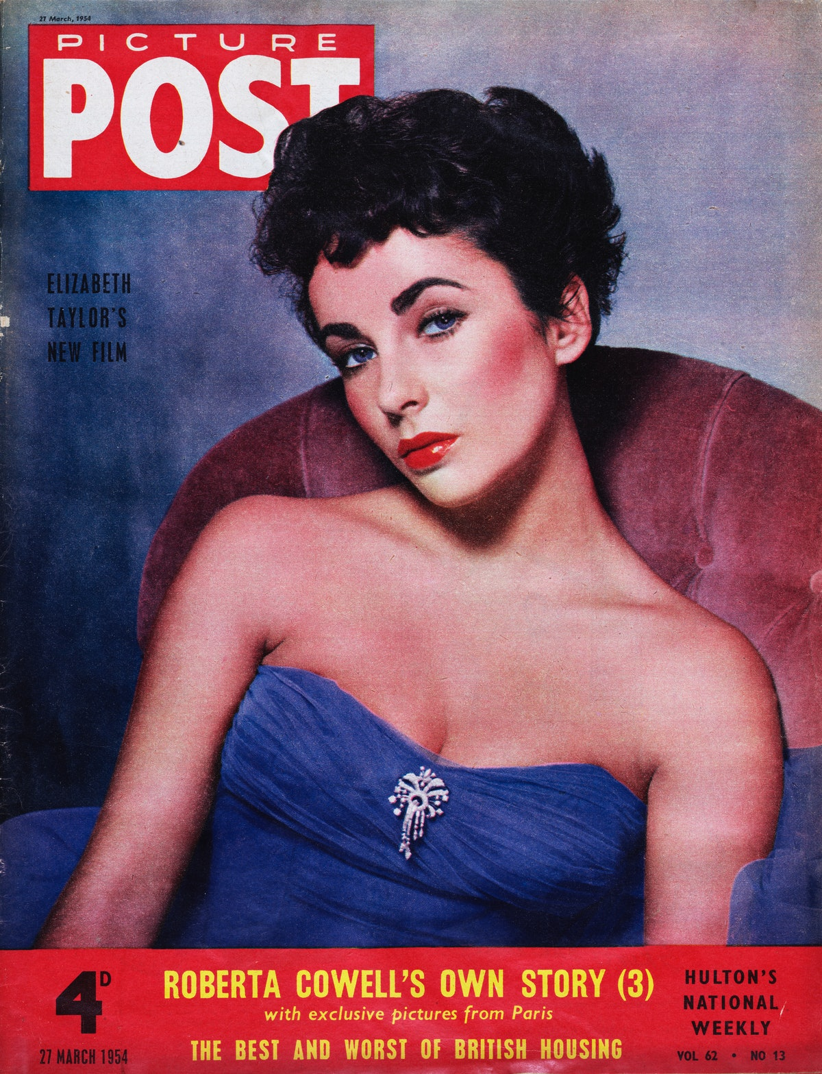 Elizabeth Taylor defines the diva arch brow of the '50s.