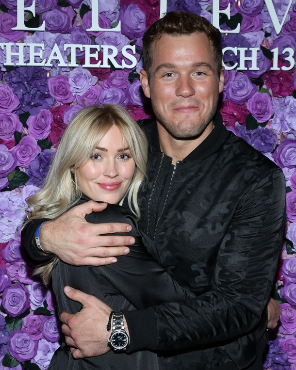 """WEST HOLLYWOOD, CALIFORNIA - MARCH 11: Reality TV Personalities Cassie Randolph (L) and Colton Underwood (R) attend the screening of Lionsgate's """"I Still Believe"""" at Fairfax Cinemas on March 11, 2020 in West Hollywood, California. (Photo by Paul Archuleta/Getty Images)"""