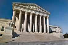 WASHINGTON, DC - The U.S. Supreme Court seen from the Capitol Hill in Washington, D.C