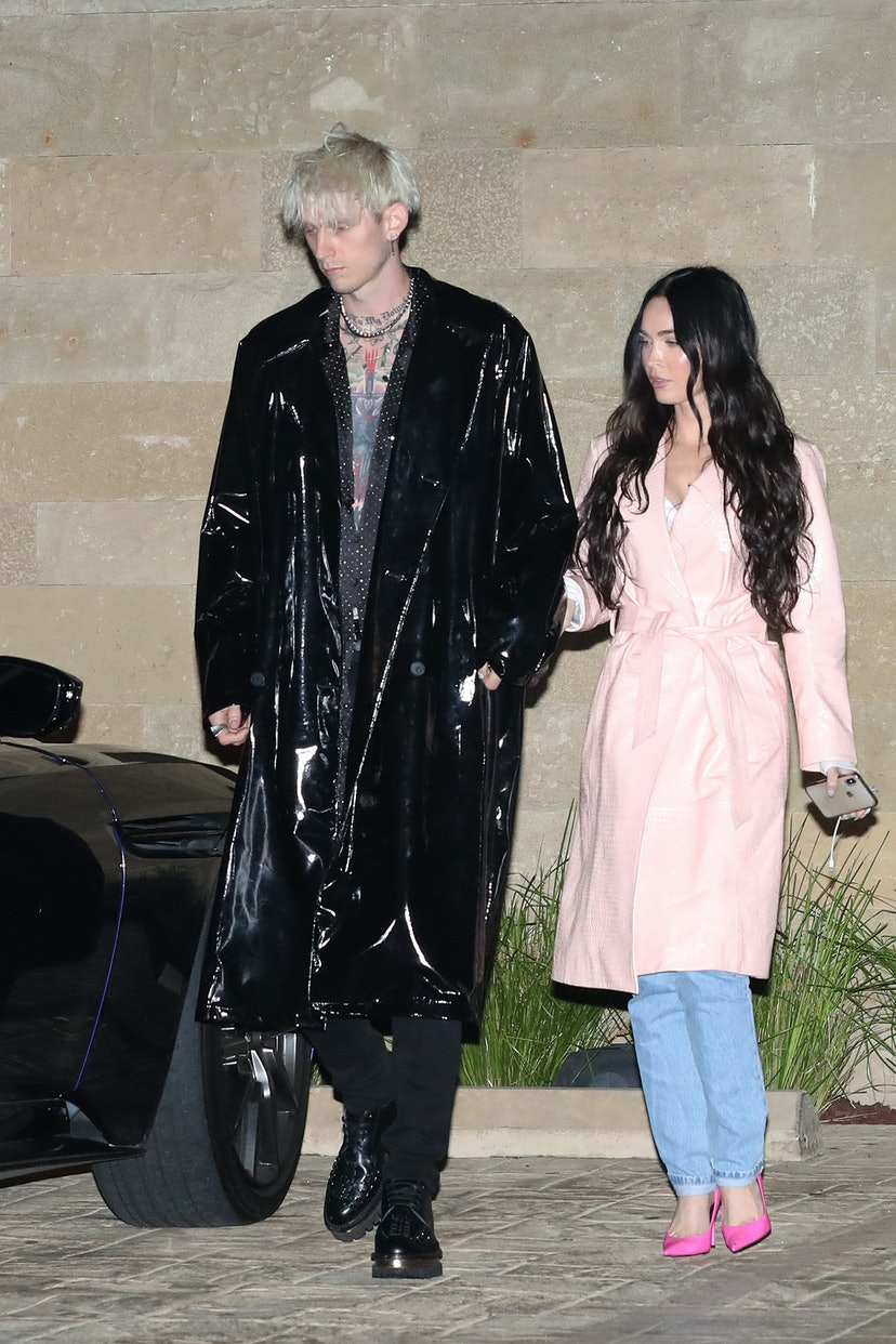 MALIBU CA - APRIL 7: Megan Fox and Machine Gun Kelly at Soho House on April 7, 2021 in Malibu, California. (Photo by Photographer Group/MEGA/GC Images)
