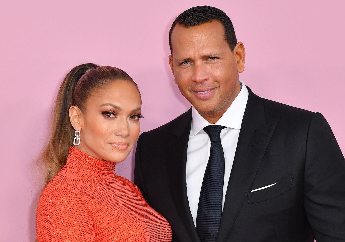 CFDA Fashion Icon Award recipient US singer Jennifer Lopez and fiance former baseball pro Alex Rodri...