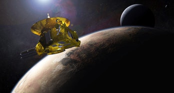 Artist's impression of the New Horizons space probe. Dated 2015. (Photo by: Universal History Archive/Universal Images Group via Getty Images)