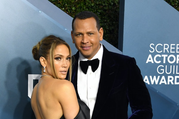 LOS ANGELES, CALIFORNIA - JANUARY 19: Jennifer Lopez and Alex Rodriguez arrives at the 26th Annual Screen ActorsGuild Awards at The Shrine Auditorium on January 19, 2020 in Los Angeles, California. (Photo by Steve Granitz/WireImage)