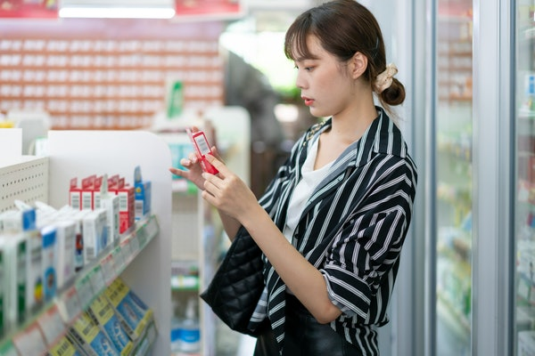 Woman shopping for emergency contraception after birth control failure.