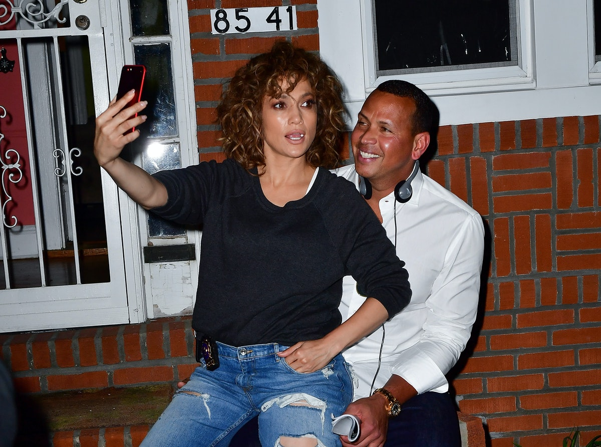NEW YORK, NY - AUGUST 23:  Jennifer Lopez and Alex Rodriguez seen on location for 'Shades of Blue' in Queens on August 23, 2017 in New York City.  (Photo by James Devaney/GC Images)
