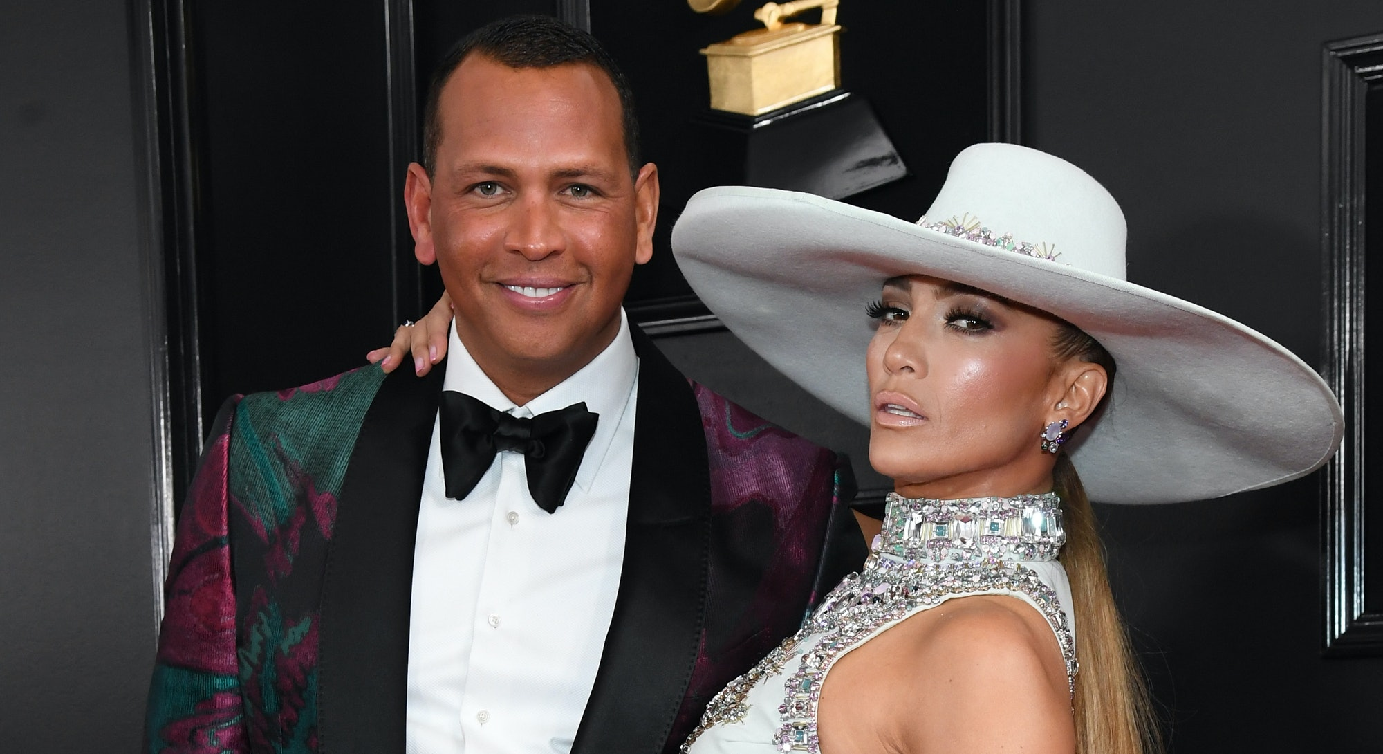 LOS ANGELES, CA - FEBRUARY 10:  Alex Rodriguez and Jennifer Lopez attend the 61st Annual GRAMMY Awards at Staples Center on February 10, 2019 in Los Angeles, California.  (Photo by Kevin Mazur/Getty Images for The Recording Academy)