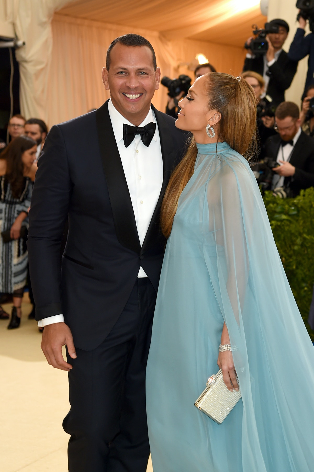 """NEW YORK, NY - MAY 01:  Alex Rodriguez and Jennifer Lopez attend the """"Rei Kawakubo/Comme des Garcons: Art Of The In-Between"""" Costume Institute Gala at Metropolitan Museum of Art on May 1, 2017 in New York City.  (Photo by Jamie McCarthy/FilmMagic)"""
