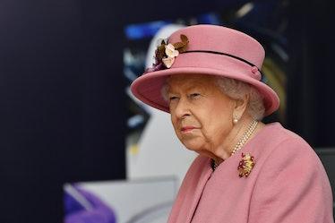 SALISBURY, ENGLAND - OCTOBER 15: Britain's Queen Elizabeth II visits the Defence Science and Technol...
