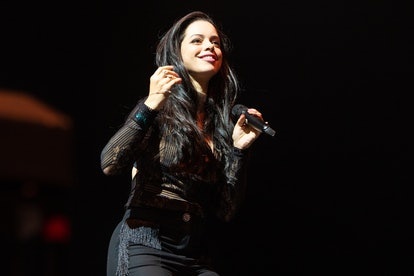 LONDON, ENGLAND - OCTOBER 11:  Tina Barrett of S Club 3 performs at Stepback The 90's Concert at SSE Arena Wembley on October 11, 2018 in London, England.  (Photo by Lorne Thomson/Redferns)