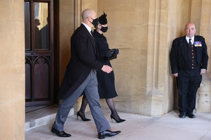 Zara and Mike Tindall were at the funeral.