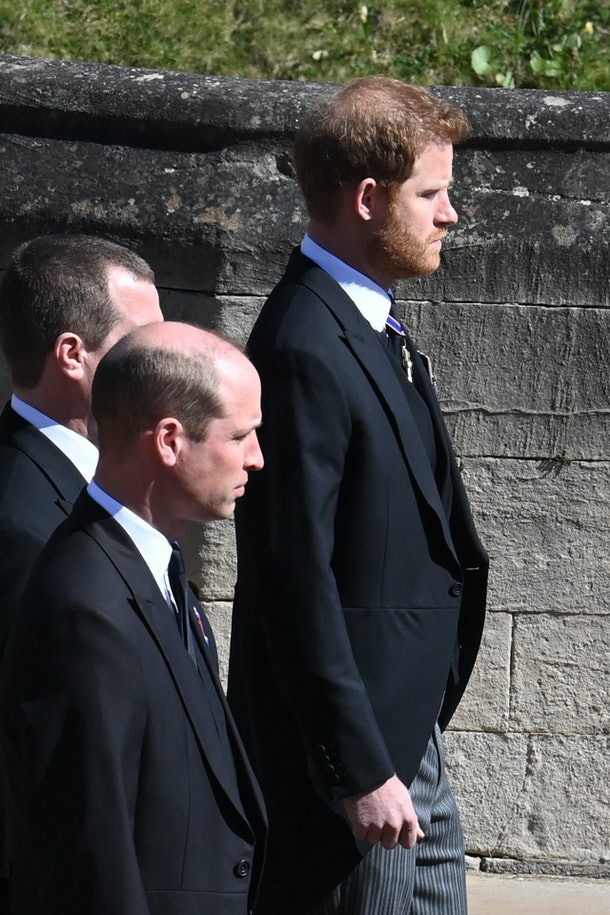 Photos of Prince William and Harry's reunion at Prince Philip's funeral represent a long-awaited moment.