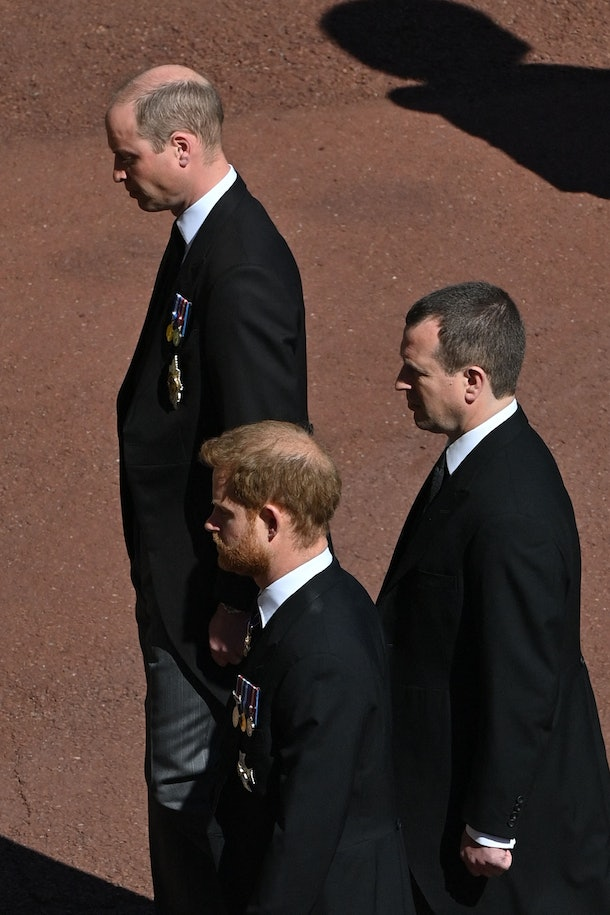 Prince William and Harry's reunion at Prince Philip's funeral was touching.
