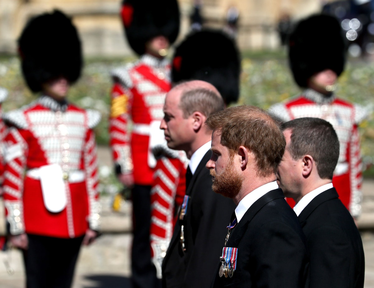 Prince William and Prince Harry were reunited at Prince Philip's funeral.