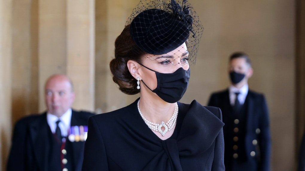 Kate Middleton's jewelry at Prince Philip's funeral carried a special meaning about her support for Queen Elizabeth.